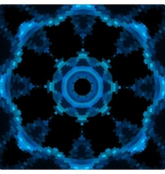 Blue mandala like design in blue color vector