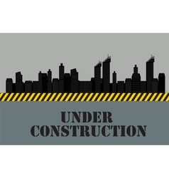Buildings of the city under construction vector