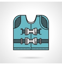 Flat design icon for life jacket vector