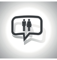 Curved man woman message icon vector image