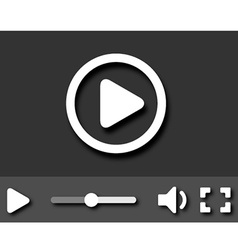 Eps10 little video player with shadows vector