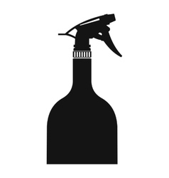 Sprayer bottle black simple icon vector