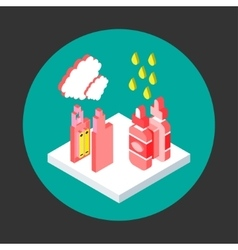 Vaping isometric flat style vector