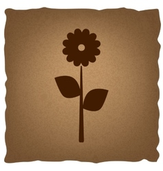 Flower sign vintage effect vector