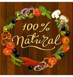 Food frame background vector