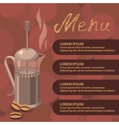 Coffee press vector