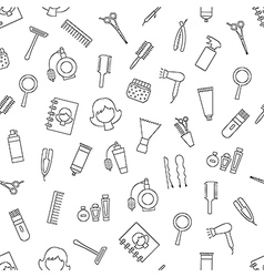 Beauty saloon pattern black icons vector