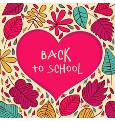Back to School and Looking Design Layout vector image vector image