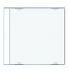 blank cd case vector image vector image