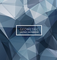 Blue abstract poly background vector