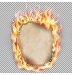 Burning sheet of paper eps 10 vector