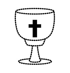 catholic cross chalice vector image