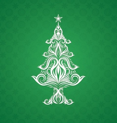 Christmas tree ornament vector
