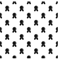 Circle badge wih ribbons pattern vector