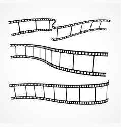 collection of film strips vector image