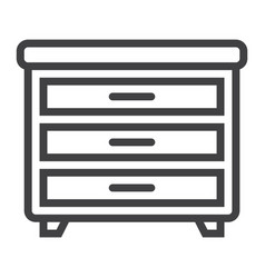 drawer unit line icon furniture and interior vector image
