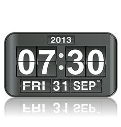 flip clock 88 vector image