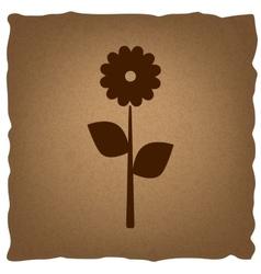 Flower sign Vintage effect vector image