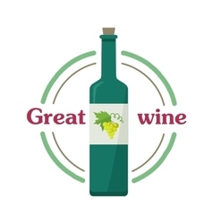 Great wine botlle check elite vintage light wine vector