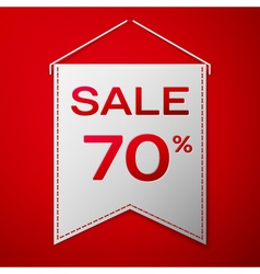 Grey pennant with inscription sale seventy percent vector