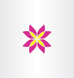 icon flower abstract symbol sign vector image vector image