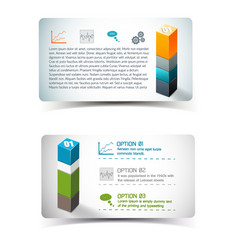 Infographics elements banners vector