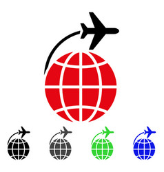 international flight flat icon vector image