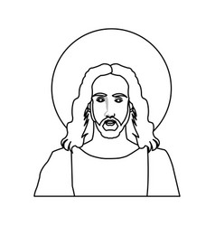 Jesus christ christian icon image vector