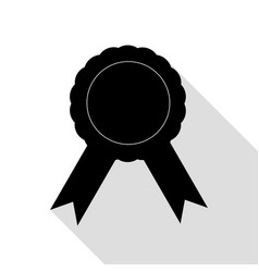 label sign ribbons black icon with flat style vector image vector image