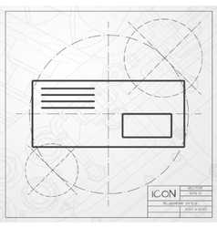 mail icon Epsclassic blueprint of0 vector image vector image