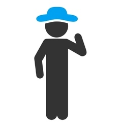 Male opinion icon vector