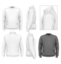 Mens sweater design template vector image vector image