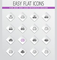 print icons set vector image