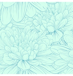 seamless pattern with blue dahlia flowers vector image vector image