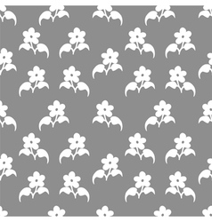 Seamless pattern with flovers vector image