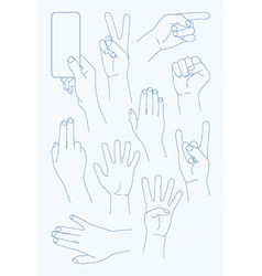 Set hands icons vector