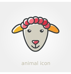 Sheep icon Farm animal vector image vector image