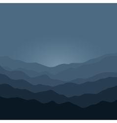 Silhouette of the mountains before sunrise vector