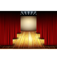 theater stage vector image vector image