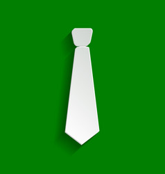 Tie sign paper whitish icon vector