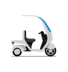 trendy electric bike isolated on white icon vector image