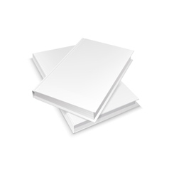 Two white blank books vector