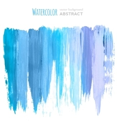 watercolor hand painted stripes vector image vector image