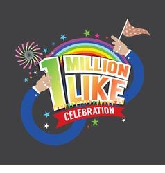 1 Million Likes Celebration vector image vector image