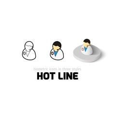 Hot line icon in different style vector