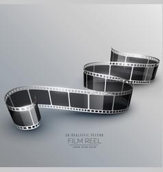 Stylish 3d filmstrip background vector