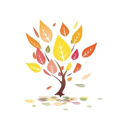 autumn leaves yellow tree vector image