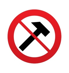 No hammer sign icon repair service symbol vector