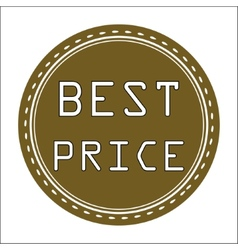 Best price icon badge label or sticke vector