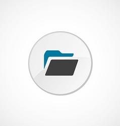 folder icon 2 colored vector image